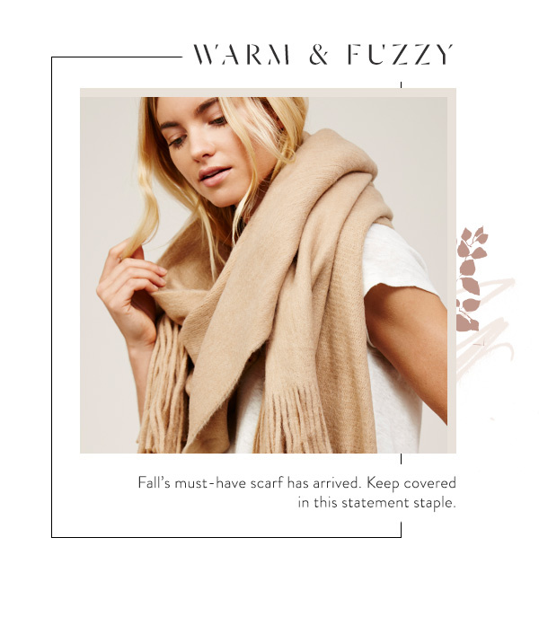 Shop The Kolby Brushed Fringe Scarf at Free People