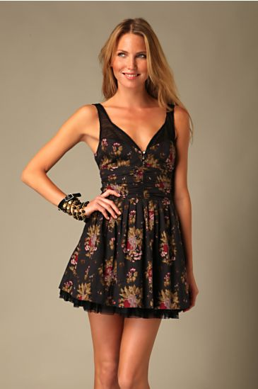 Free People Clothing Boutique > Cabbage Rose Dress :  floral lace woven cute