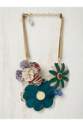 One of a Kind Vintage Flower Necklace