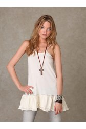 Ruffle Sleeveless Tunic