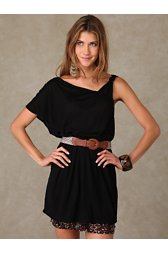 One Shoulder Solid Tunic