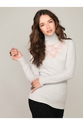 Long Sleeve Sweater & Lace Turtleneck
