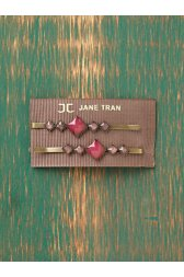 Jewel Stone Bobby Pins