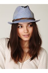 Tattered Painted Fedora