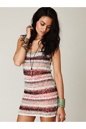 FP New Romantics Sweater Fringe Dress