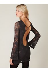 Priscilla Open Back Lace Bodycon Dress