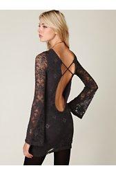 Priscilla Open Back Lace Bodycon Dress