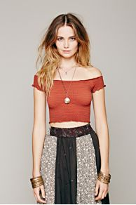 Smocked Seamless Crop Top at Free People