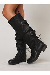 Marl Buckle Tall Boot