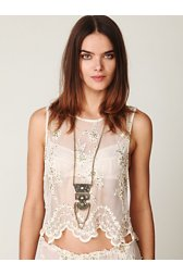 Embellished Daisy Chain Crop Top