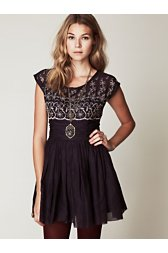 Short Sleeve Eyelet Garden Day Dress