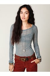 Striped Burnout Top