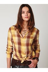 La Bourse Plaid Button Down