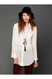Sheer Buttondown Tunic