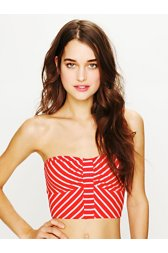 Engineered Stripe Bandeau