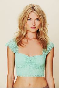 Intimately Free People Scallop Edge Lace Crop at Free People