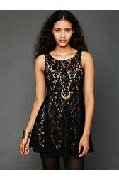 Sleeveless Miles of Lace Dress