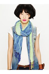 Stripes & Feathers Scarf