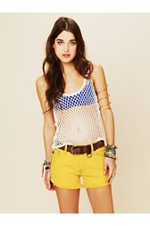 Bright and Bold Cutoff Shorts