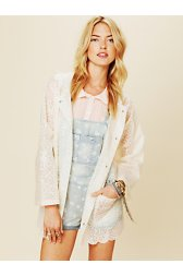 Printed Lace Raincoat
