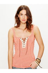 We The Free Lava Stripe Lace Tank