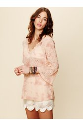 Eyelet Hooded Tunic