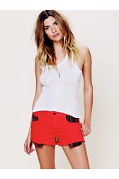 Rugged Ripped Baja Denim Shorts