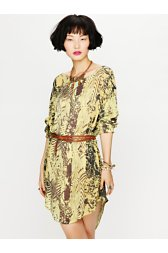 Urbi Printed Long Sleeve Dress