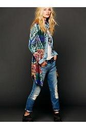 Pattern Long Buttondown Sweater