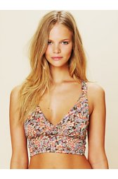 Mock Surplice Printed Bra