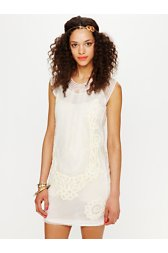 Elle Embroidered Dropwaist Mini Dress