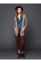 Textured Print Harem Pants