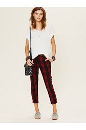 Plaid Slouchy Trouser