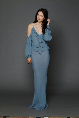 Flannel Womens Temptress Cold Shoulder Maxi