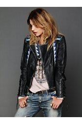 Vanesa Embroidered Leather Jacket