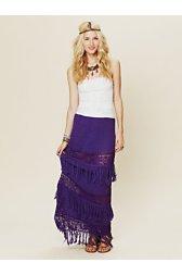 Calypso Fringe Maxi Skirt