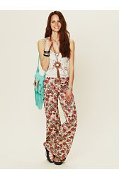 Floral Drawstring Bell Bottoms