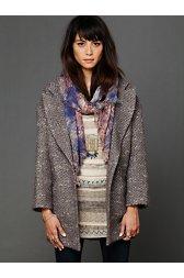 Golden Sun Tweed Coat
