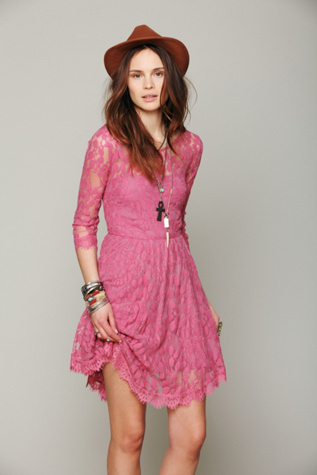 Floral Lace Mesh Dress Free People