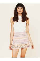 Jacquard Embellished Skirt