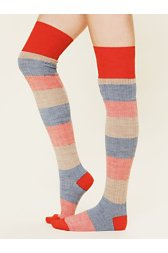 Merino Stripe Tall Sock