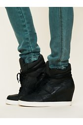 Cool Nappa Wedge Sneaker