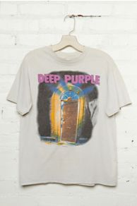 Vintage Deep Purple Graphic Tee at Free People