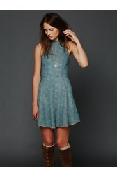 Trailing Crescent Chambray Dress