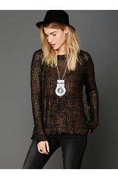 Marl Yarn Metallic Foil Sweater