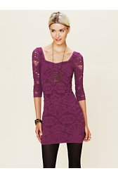3/4 Seamless Medallion Bodycon Dress