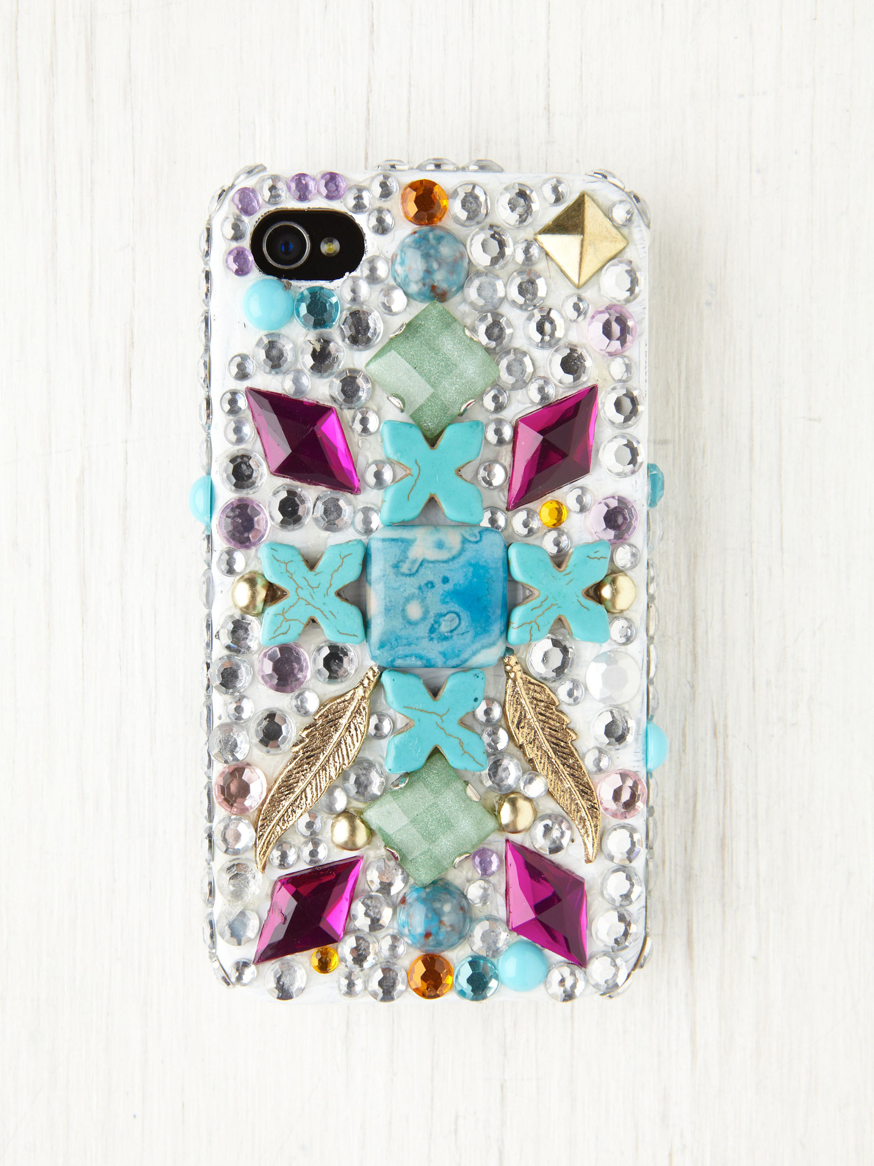 free people, case, iphone, gem, bedazzled, jeweled, stud
