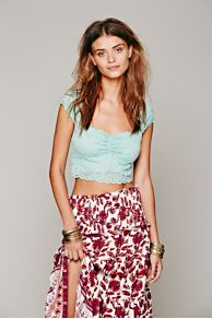 Intimately Scallop Edge Crop at Free People