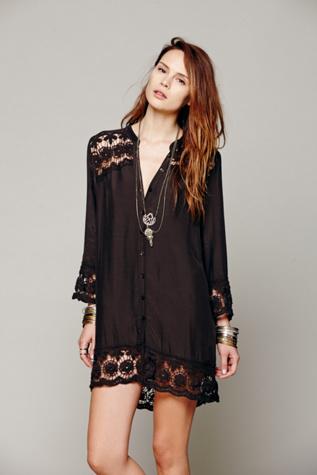 Intimately Womens Crochet Night Shirt