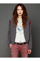 FP New Romantics Quilted Baseball Jacket